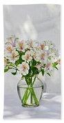 Lilies In A Vase 001 Beach Towel