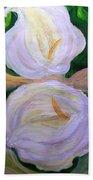 Lilies With Chiffon Beach Towel