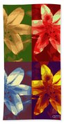 Lillies Of Four Beach Towel
