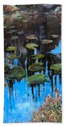 Lilly Pads And Reflections Beach Towel