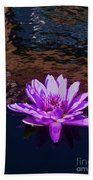 Lily In Pond Beach Towel