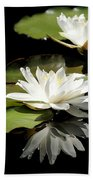 Lily Of The Lake Watercolor Beach Towel