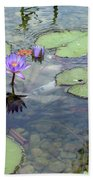 Lily Pads And Koi 1 Beach Towel