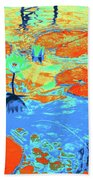 Lily Pads And Koi 10 Beach Towel