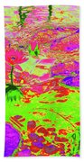 Lily Pads And Koi 12 Beach Towel