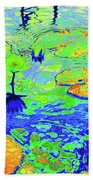Lily Pads And Koi 14 Beach Towel