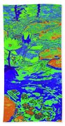 Lily Pads And Koi 14b Beach Towel