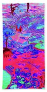 Lily Pads And Koi 15 Beach Towel