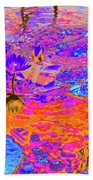 Lily Pads And Koi 17 Beach Sheet