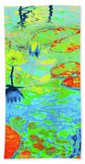 Lily Pads And Koi 20 Beach Towel