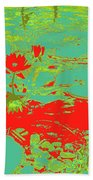 Lily Pads And Koi 33 Beach Towel