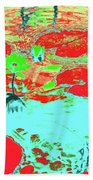 Lily Pads And Koi 8 Beach Towel