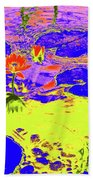 Lily Pads And Koi 9 Beach Towel