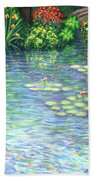 Lily Pads Triptych Panel Three Of Three Beach Towel