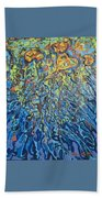 Lily Pads Water Lily Paintings Beach Towel