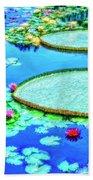 Lily Pond 2 Beach Towel