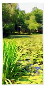 Lily Pond #4 Beach Towel