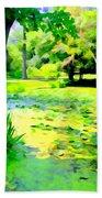 Lily Pond #5 Beach Towel