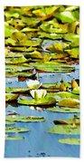 Lily Pond Beach Towel