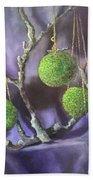 Lime And Violet In Harmony Beach Towel