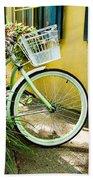 Lime Green Bike Beach Towel