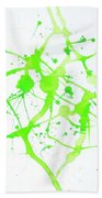 Lime Green Study Beach Towel