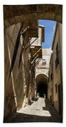 Limestone And Sharp Shadows - Old Town Noto Sicily Italy Beach Towel
