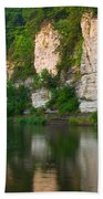 Limestone Bluffs Along Upper Iowa Beach Towel