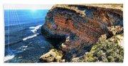 Limestone Cliff Beach Towel