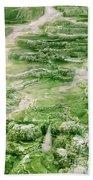 Limestone Detail Minerva Springs Yellowstone National Park Beach Towel