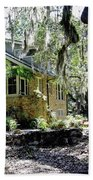 Limestone Home In The Trees Beach Towel