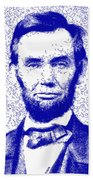 Lincoln Abstract Blue Beach Towel