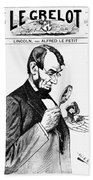 Lincoln Cartoon, 1873 Beach Towel