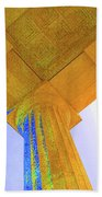 Lincoln Column Yellow Beach Towel
