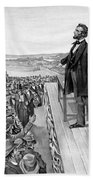 Lincoln Delivering The Gettysburg Address Beach Towel