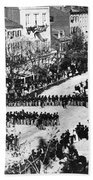 Lincolns Funeral Procession, 1865 Beach Towel by Photo Researchers, Inc.