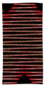 Linear Lesson In Black And Red Beach Towel