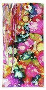 Lines And Bubbles Beach Towel