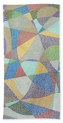 Lines And Curves Beach Towel
