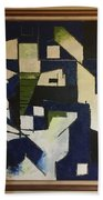 Lines And Squares Beach Towel