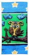 Lint Owl Beach Towel