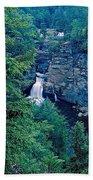 Linville Falls - North Carolina Beach Towel