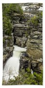 Linville Falls The Upper View Beach Towel