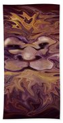 Lion Abstract Beach Towel