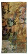 Lion And Lamb Collage Beach Sheet