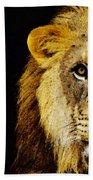 Lion Art - Face Off Beach Towel