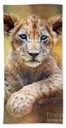 Lion Cub Beach Towel