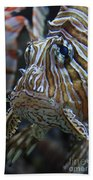 Lion Fish Profile Beach Towel
