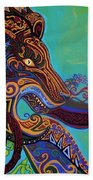 Lion Gargoyle Beach Towel