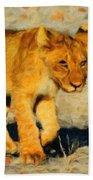 Lion - Id 16235-220310-4716 Beach Towel